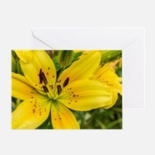Funny Yellow flower Greeting Card