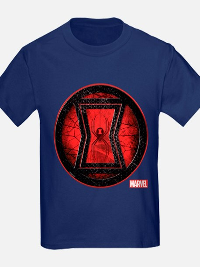 Black Widow Grunge Icon T