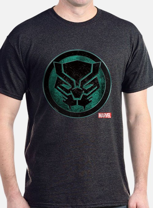 Black Panther Grunge Icon T-Shirt