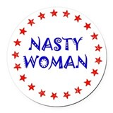 Nasty hillary Round Car Magnets