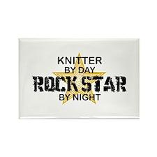 Knitter Rock Star Rectangle Magnet