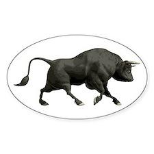 Black Bull Oval Decal
