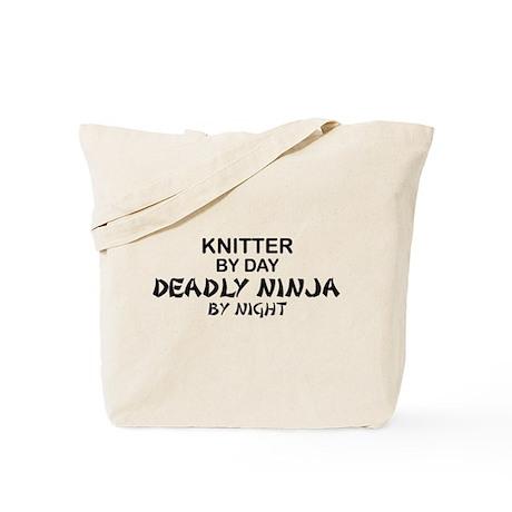 Knitter Deadly Ninja Tote Bag