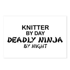 Knitter Deadly Ninja Postcards (Package of 8)