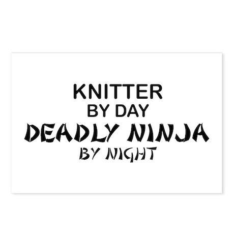 Knitter Deadly Ninja Postcards (Package of 8)
