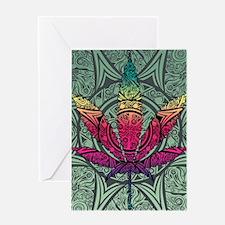 Marijuana Leaf Greeting Card