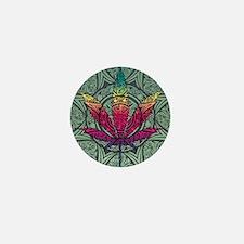 Marijuana Leaf Mini Button