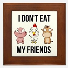 I Don't Eat My Friends - Vegan / V Framed Tile