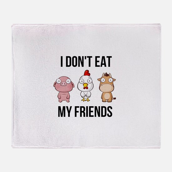 I Don't Eat My Friends - Vegan / Throw Blanket
