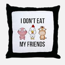 I Don't Eat My Friends - Vegan / Throw Pillow