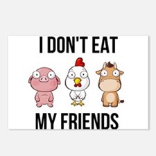 I Don't Eat My Friend Postcards (Package of 8)