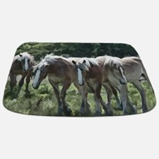 Draft Horses Bathmat