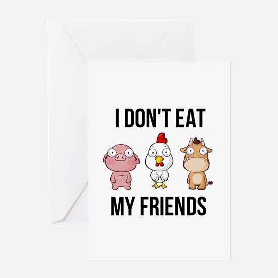 I Don't Eat My Friends - Vegan Greeting Cards