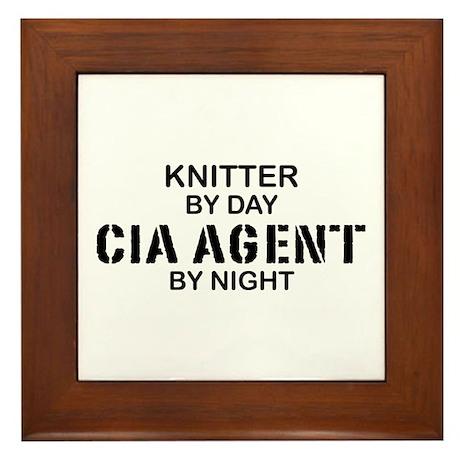 Kmitter CIA Agent Framed Tile