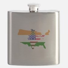 Indian American Flask