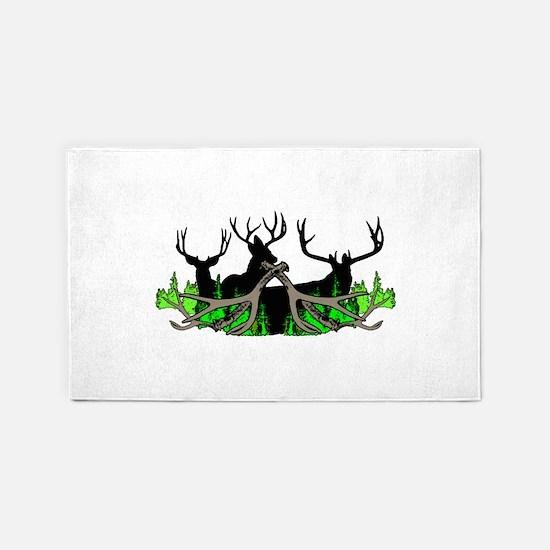 Deer shed 3 Area Rug