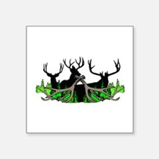 "Deer shed 3 Square Sticker 3"" x 3"""