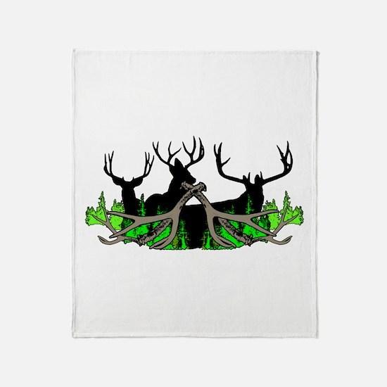 Deer shed 3 Throw Blanket