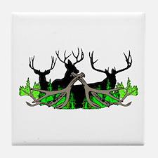 Deer shed 3 Tile Coaster