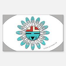 Hopi Sunface Oval Decal