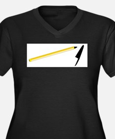 Ball Point Pen Plus Size T-Shirt