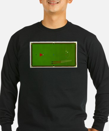 Snooker Table Long Sleeve T-Shirt