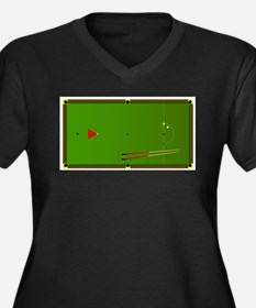 Snooker Table Plus Size T-Shirt