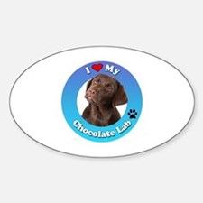 Cute Chocolate lab lovers Sticker (Oval)