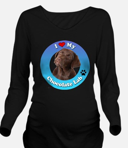 Unique Puppies Long Sleeve Maternity T-Shirt
