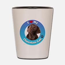 Cute Chocolate lab lovers Shot Glass