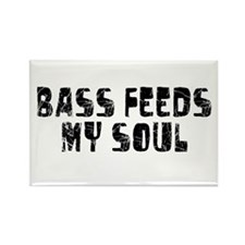 Bass Feeds My Soul Rectangle Magnet