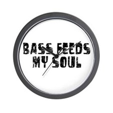 Bass Feeds My Soul Wall Clock