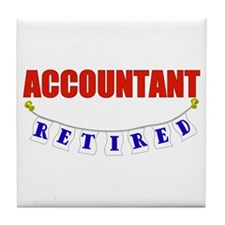 Retired Accountant Tile Coaster