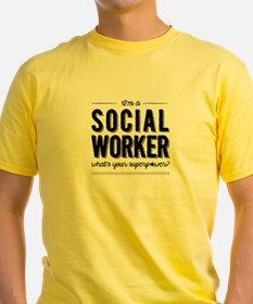 Social Worker Superpower Men's T-Shirt
