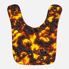 Hot Lava Polyester Baby Bib