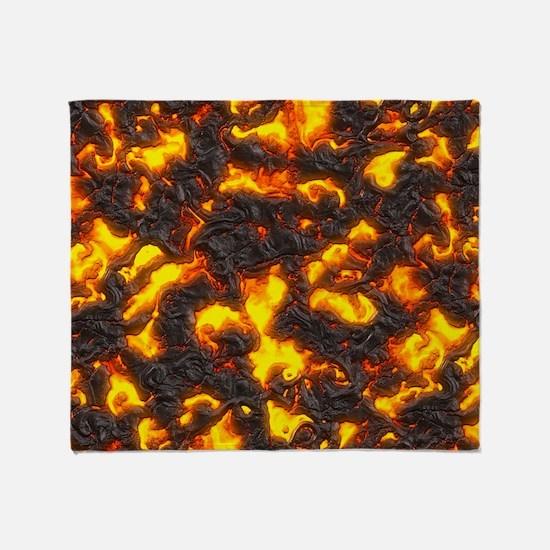Hot Lava Throw Blanket