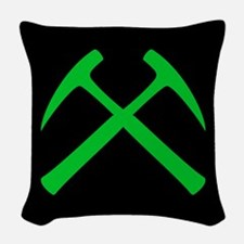 Crossed Rock Hammers Woven Throw Pillow