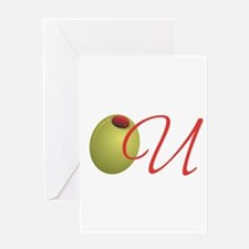 Olive U Greeting Cards