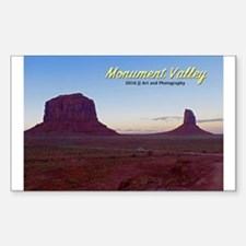 Monument Valley Sunset Sticker (rectangle)