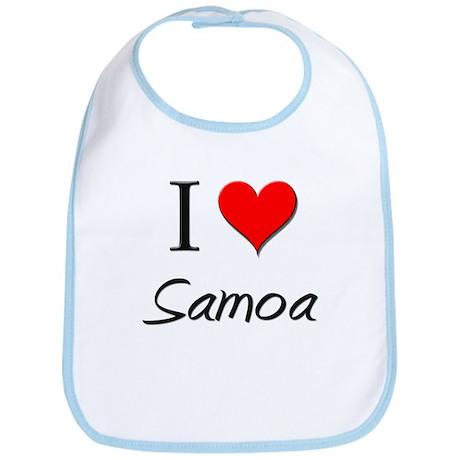 I Love Saint Lucia Bib