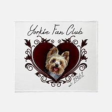 Cute Teacup yorkie Throw Blanket