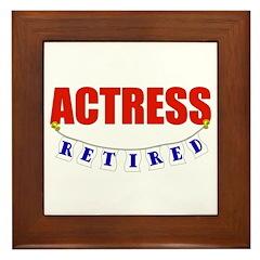 Retired Actress Framed Tile