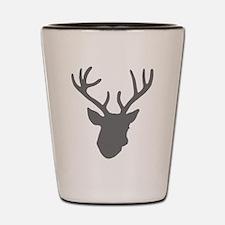Deer Head: Rustic Grey Shot Glass