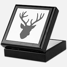 Deer Head: Rustic Grey Keepsake Box