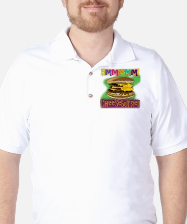 Hmm Cheeseburger Golf Shirt