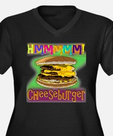 Hmm Cheeseburger Plus Size T-Shirt
