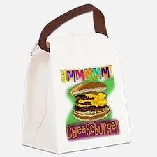 Hmm Cheeseburger Canvas Lunch Bag