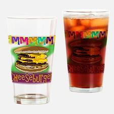 Hmm Cheeseburger Drinking Glass