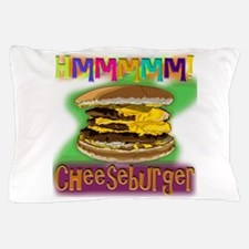 Hmm Cheeseburger Pillow Case