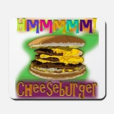 Hmm Cheeseburger Mousepad